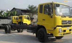 Trung tâm bán xe tải Dongfeng B170 thùng mui bạt - Xe tải Dongfeng B170 gắn cẩu giá rẻ