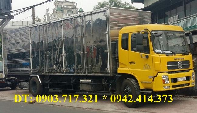 Gía bán xe tải DongFeng 6T7 * 6.7Tan * 6Tan7 * 6700Kg thùng kín dài 9m3.