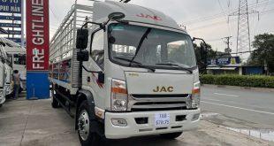 xe tải jac N800 thùng mui bạt